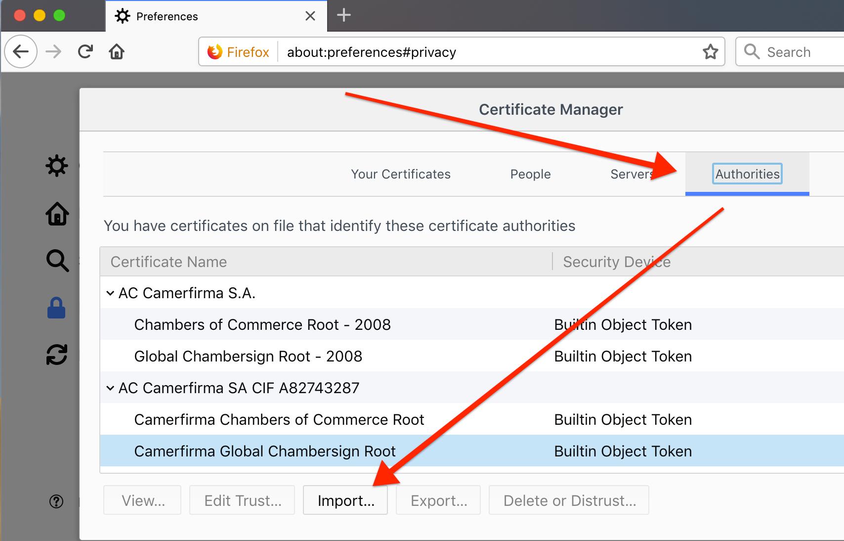 firefox certificates part 2