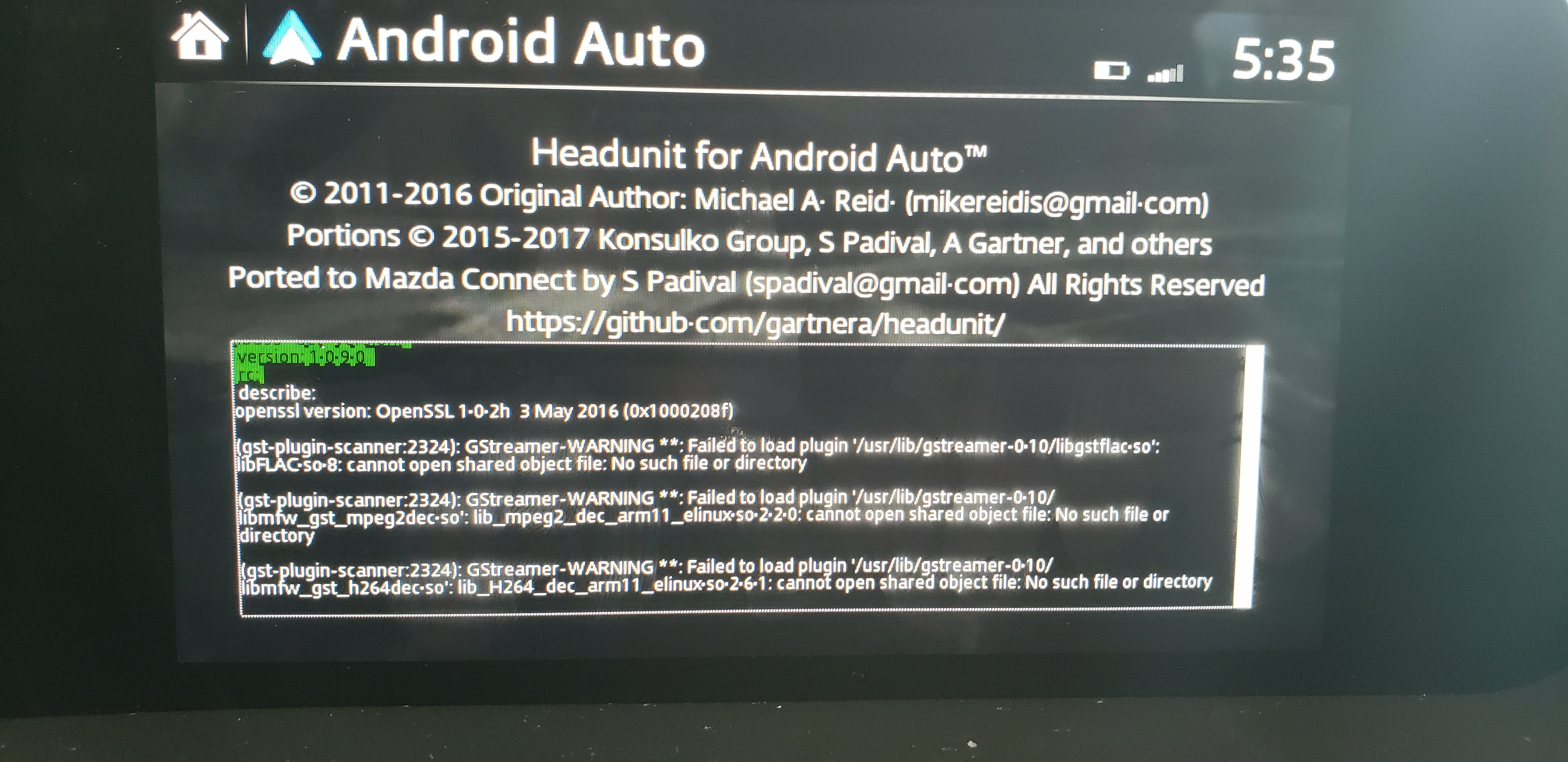 Android Auto Map Not Working W/Mazda CX-5 2017 · Issue #13