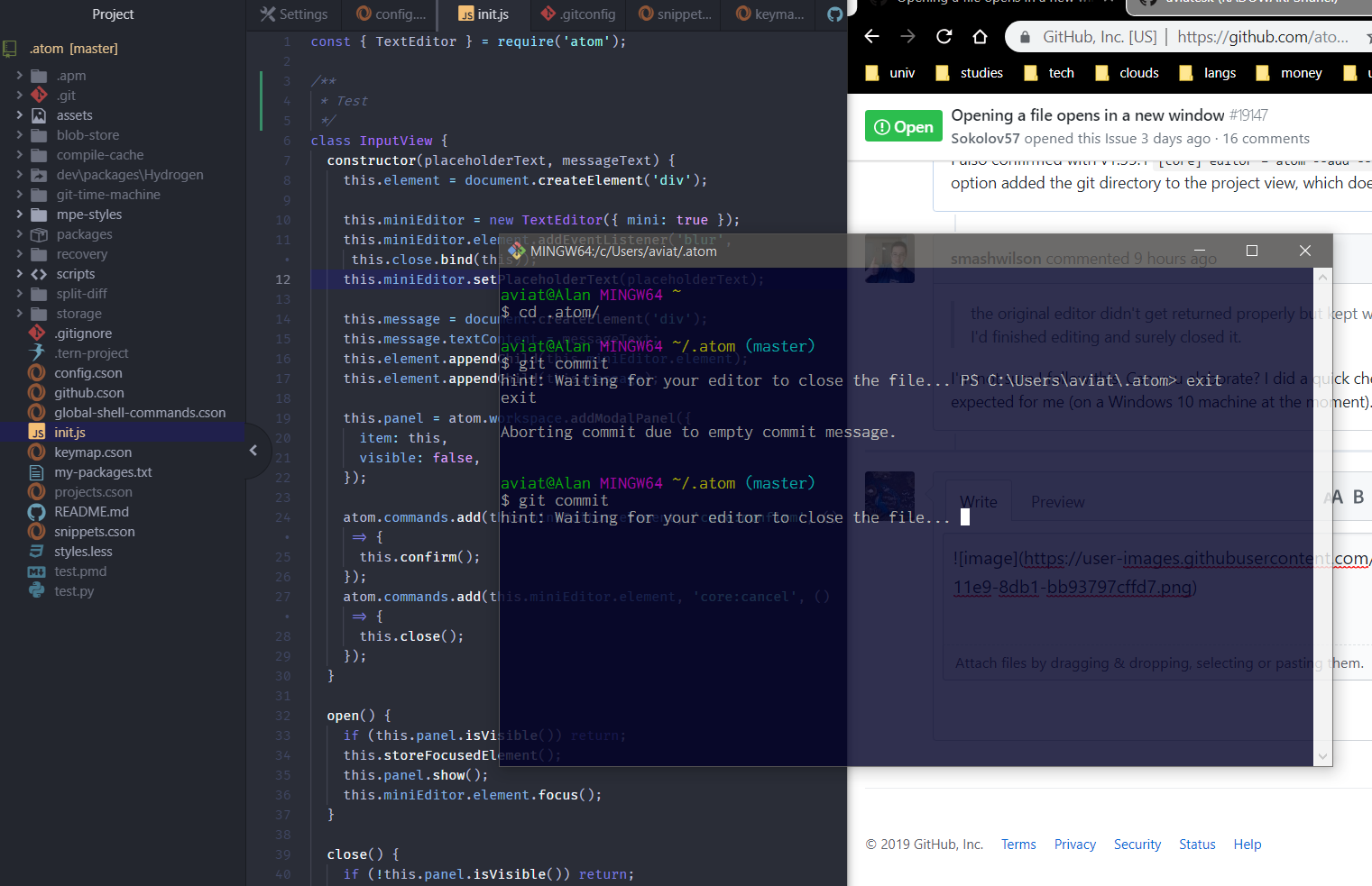 Opening a file opens in a new window · Issue #19147 · atom