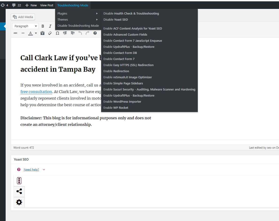 Yoast SEO editor is blank · Issue #11937 · Yoast/wordpress