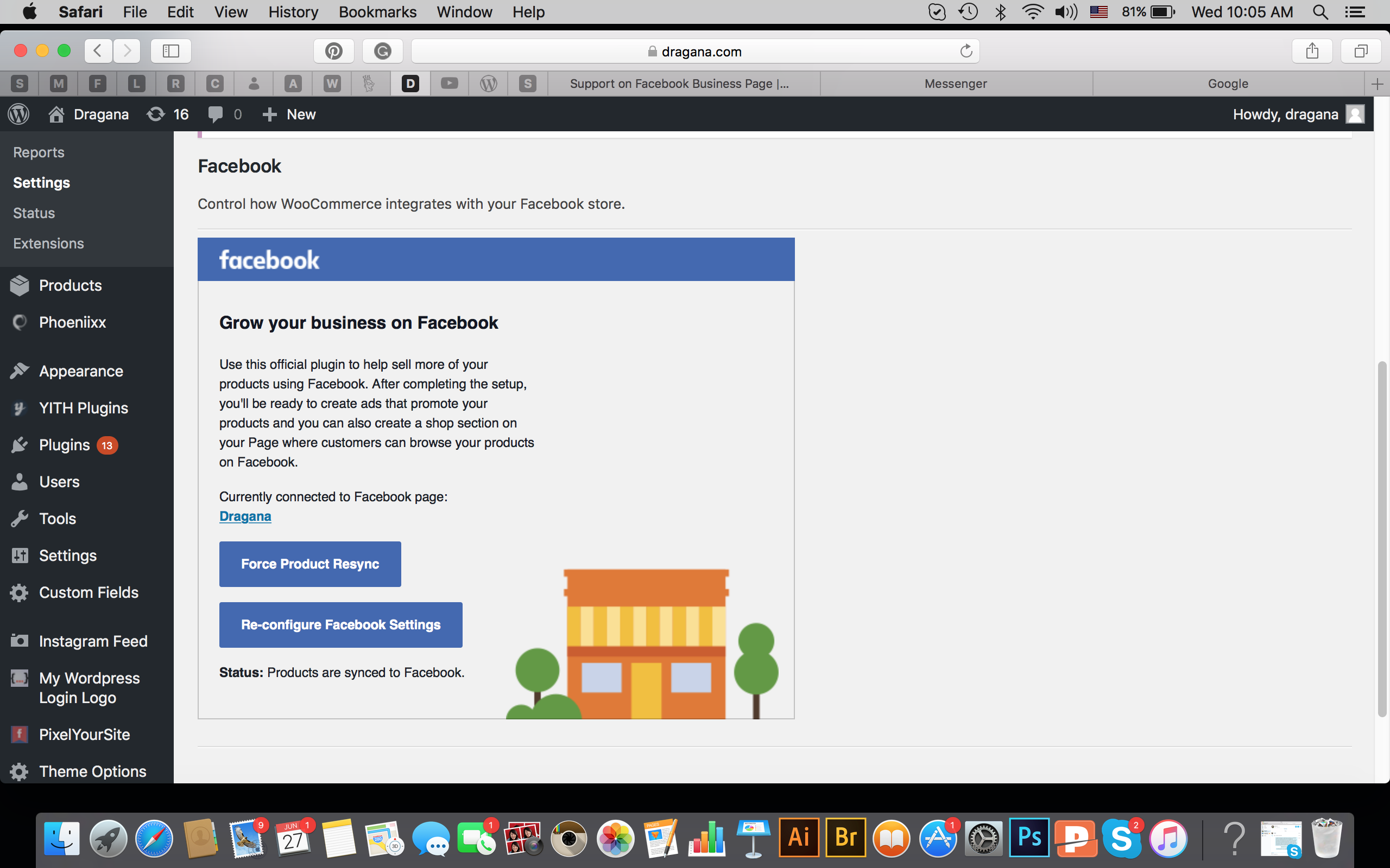 No products in Facebook page shop? · Issue #248