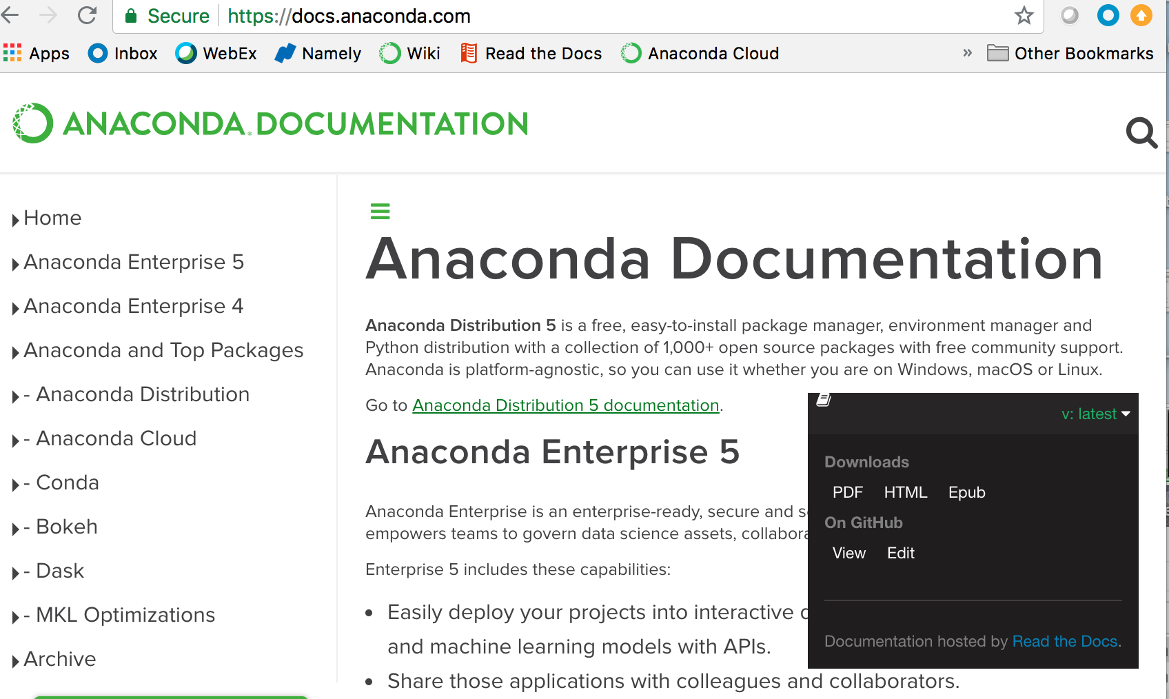 Offline manuals for python package in Anaconda: don't you