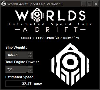 A little App to calculate speed - Worlds Adrift