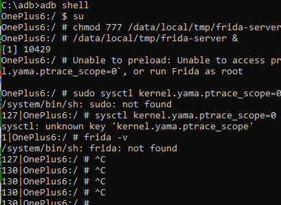 unknown key 'kernel yama ptrace_scope' On OnePlus 6 · Issue