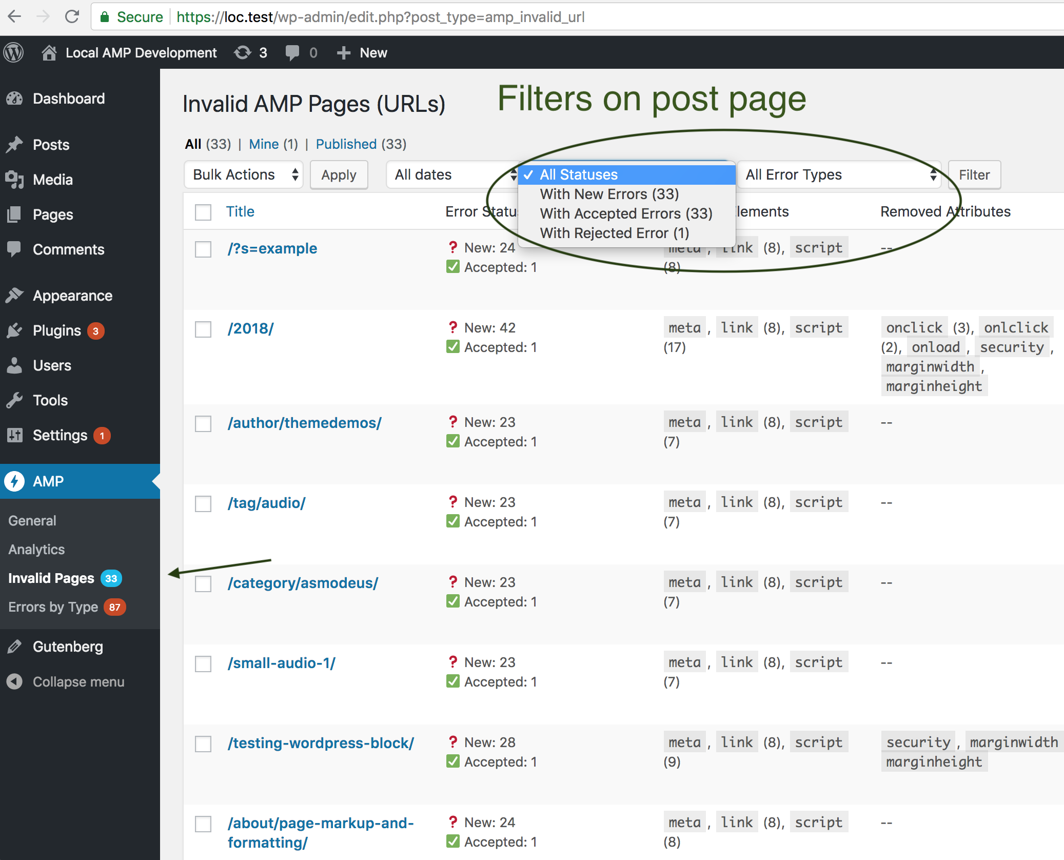 filters-on-post-page