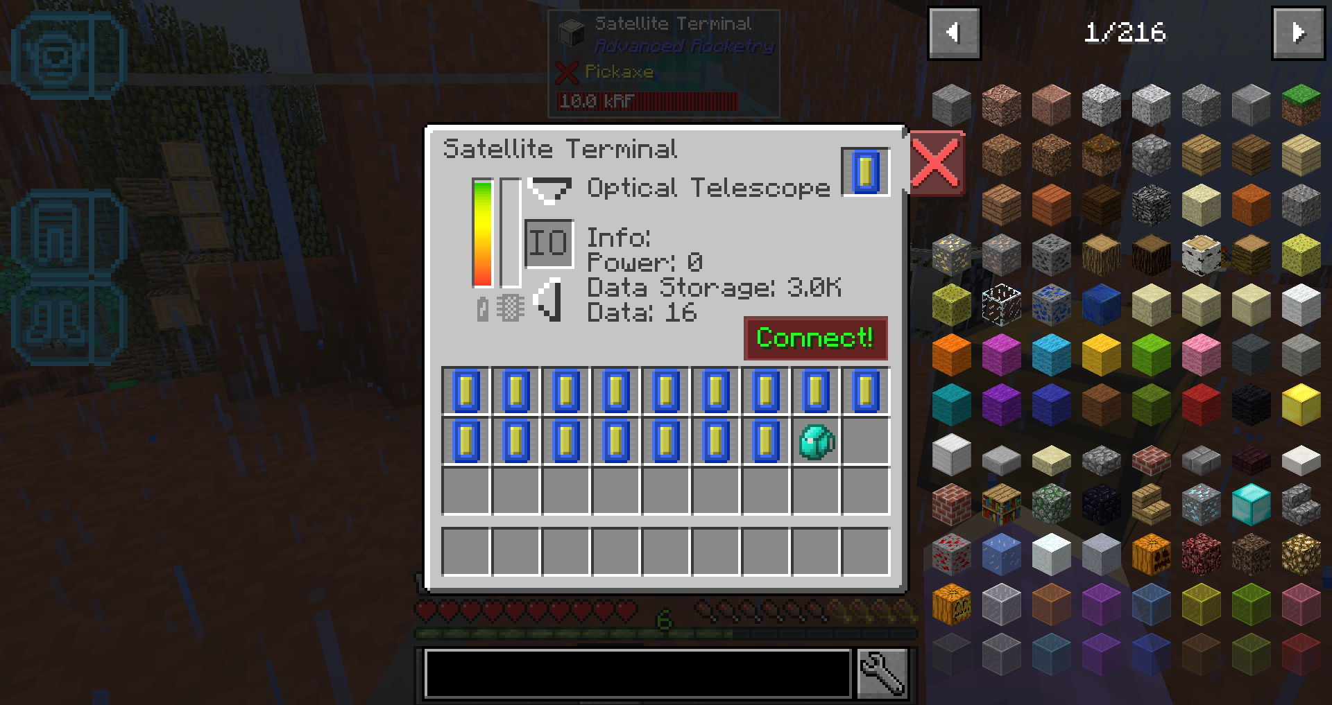 Bug: Advanced Rocketry satellite terminal? · Issue #281