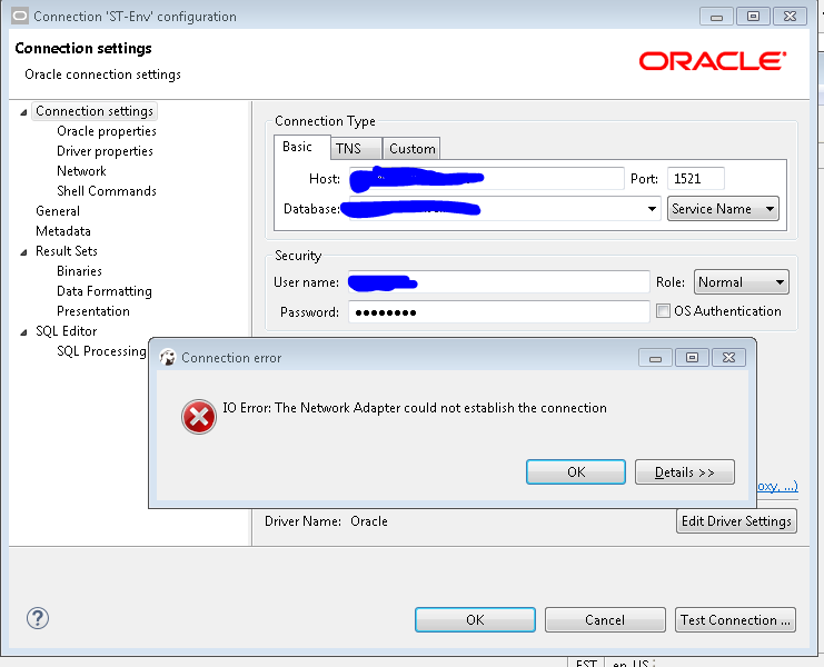 Unable to connect Oracle database · Issue #3711 · dbeaver