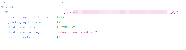Webhook does not even touch server · Issue #72 · php-telegram-bot