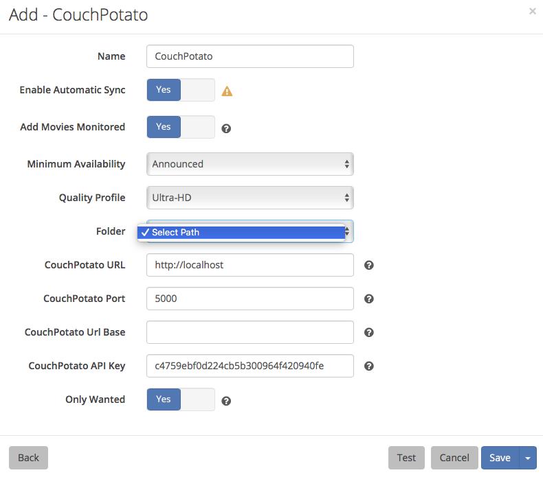 Can't add Couchpotato list · Issue #2863 · Radarr/Radarr