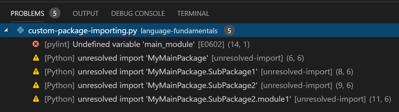 Python unresolved import issue · Issue #3840 · microsoft/vscode