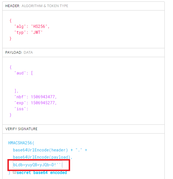 jwt io says that token got 'Invalid Signature' · Issue #281