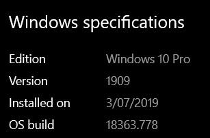 WindowsSpecification