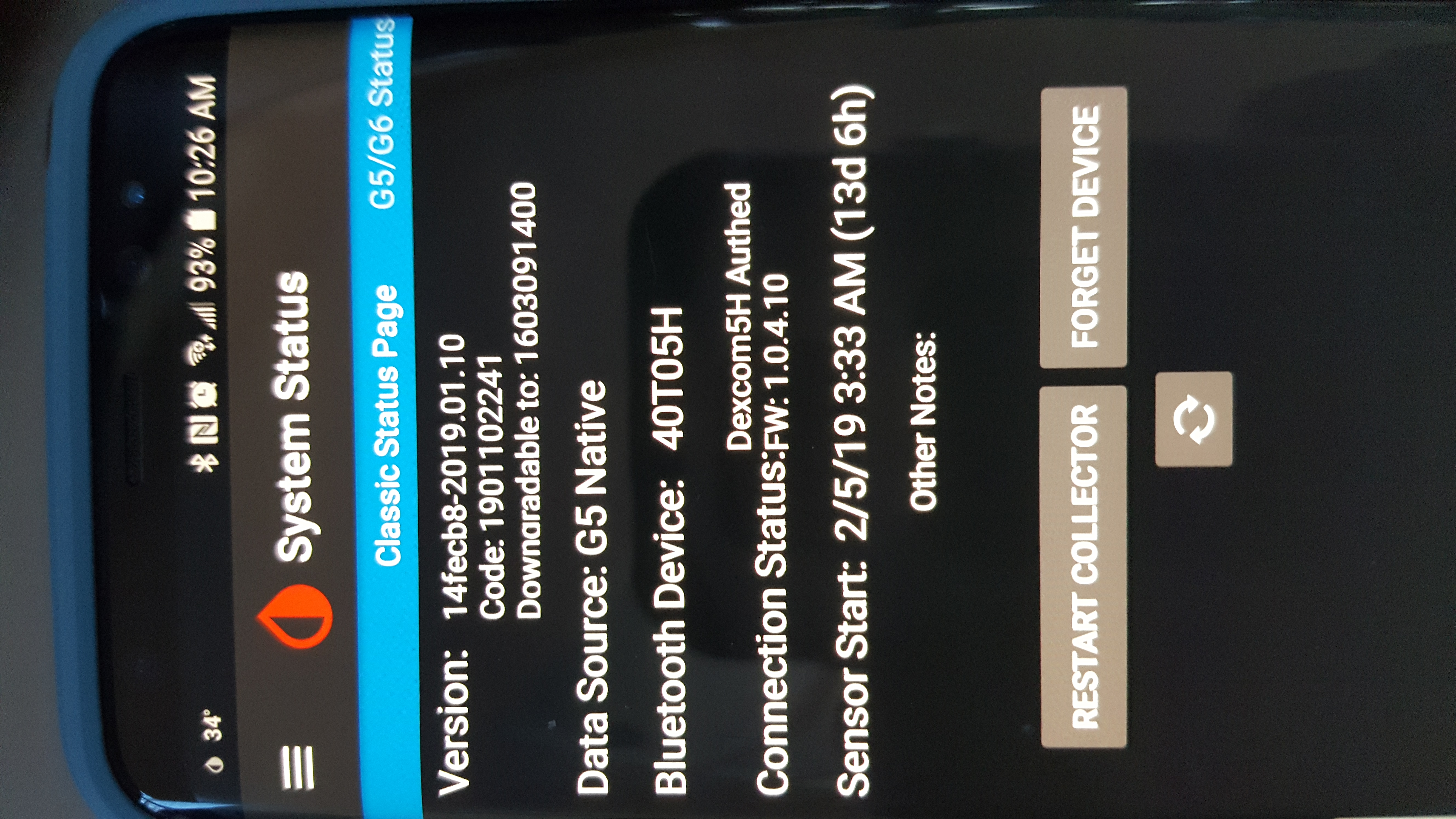 samsung s8 and sony smartwatch 3 sensor stopped, calibration