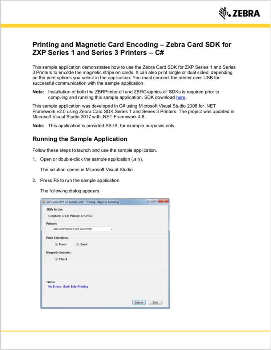 GitHub - ZebraISV/PCCard_MagneticCardEncoding: An app developed in