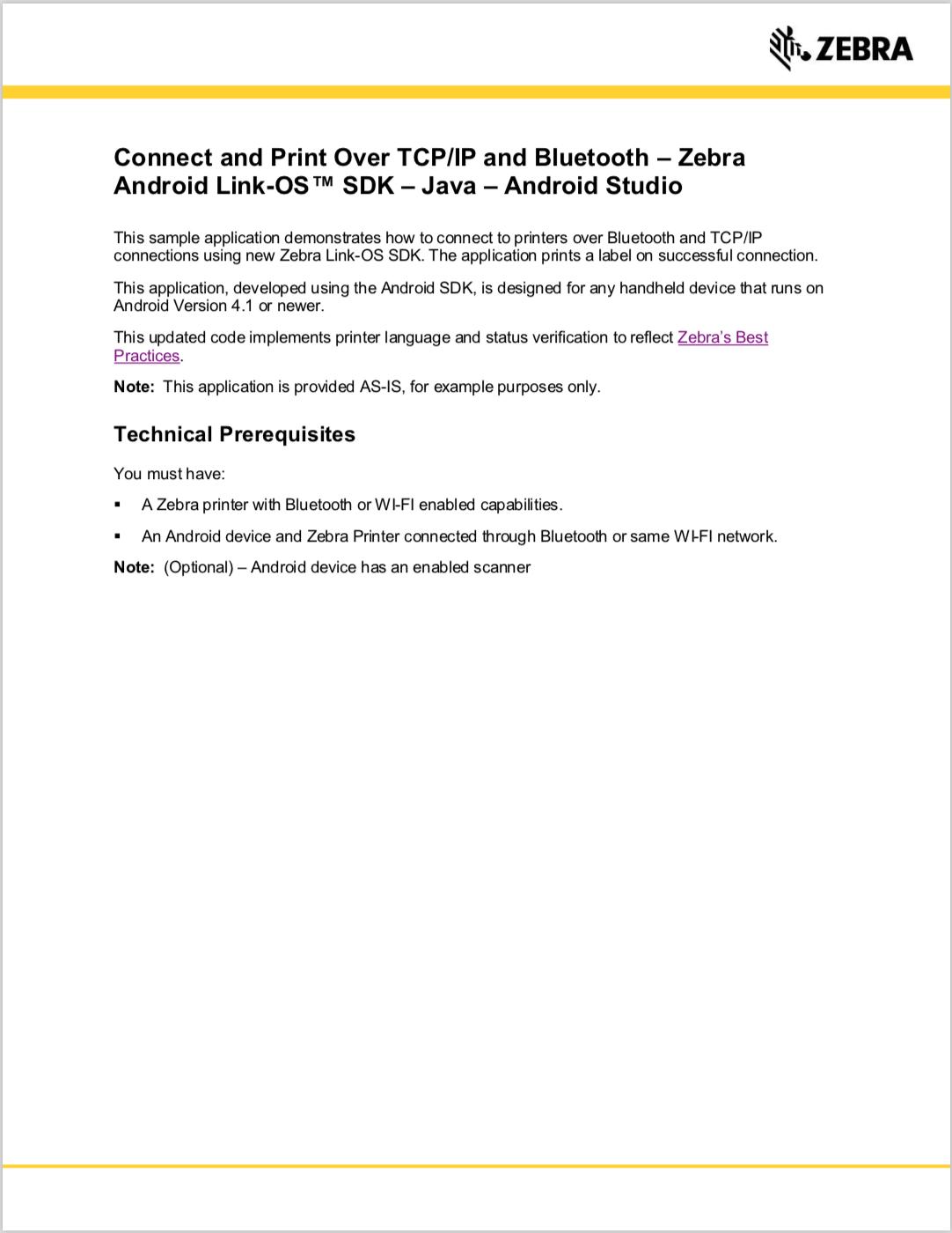 GitHub - ZebraISV/LinkOS-Android-Samples-ConnectivityDemo: An app