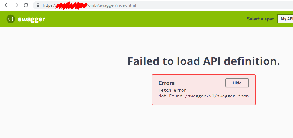 Swagger index doesn't prepend configured baseurl · Issue