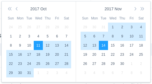 Feature Request] Date Range Picker · Issue #1646 · vuetifyjs/vuetify