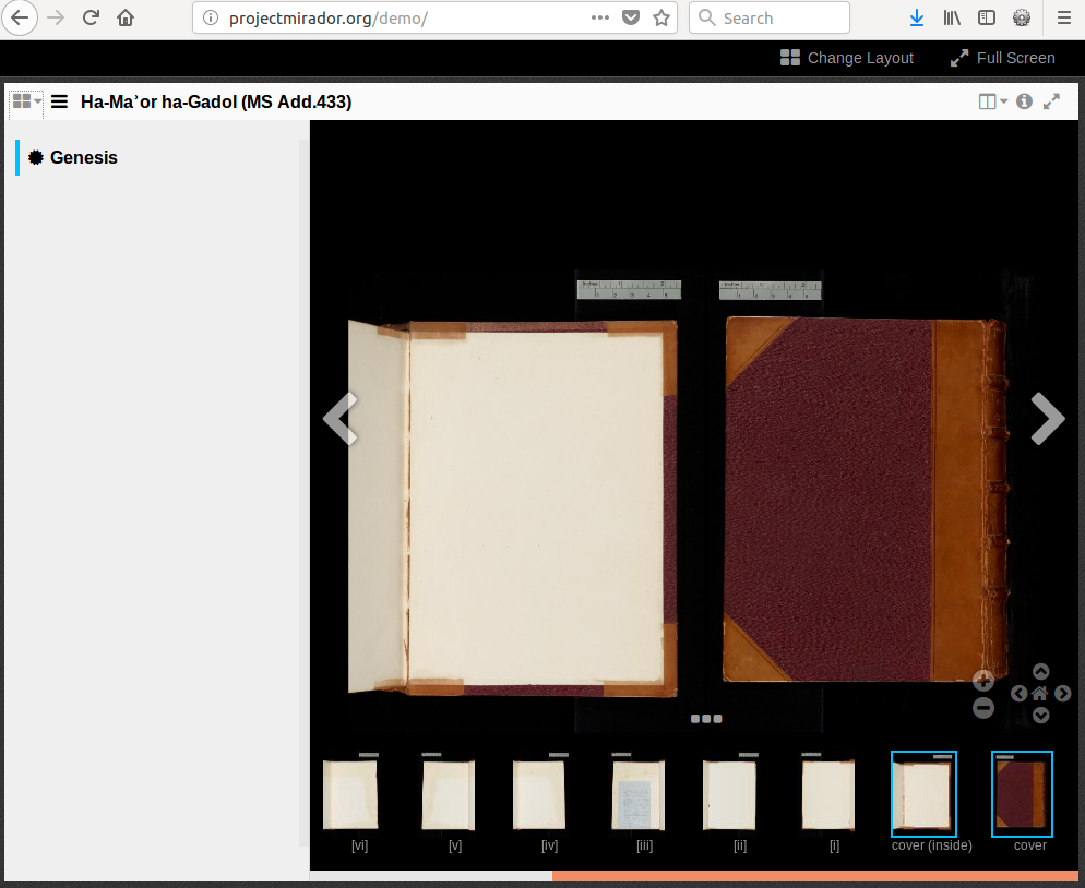 Book View' incorrect for R-to-L Manuscripts with an odd