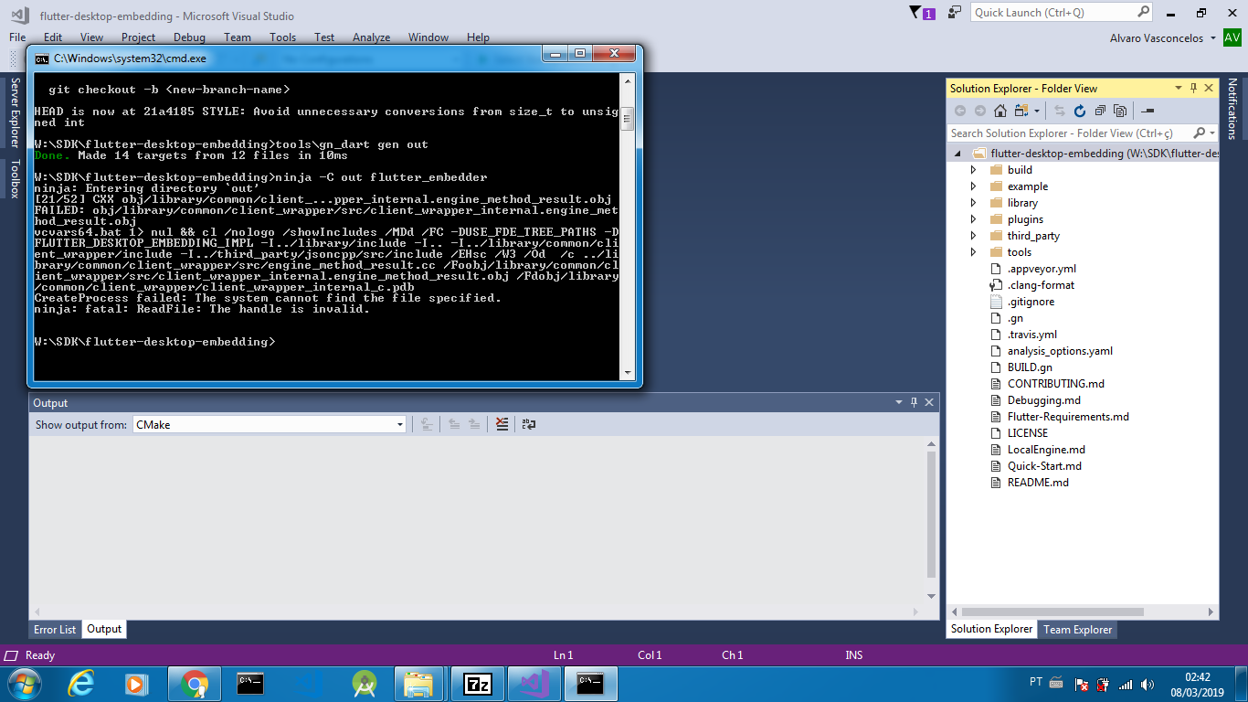 Windows Build Failed · Issue #301 · google/flutter-desktop