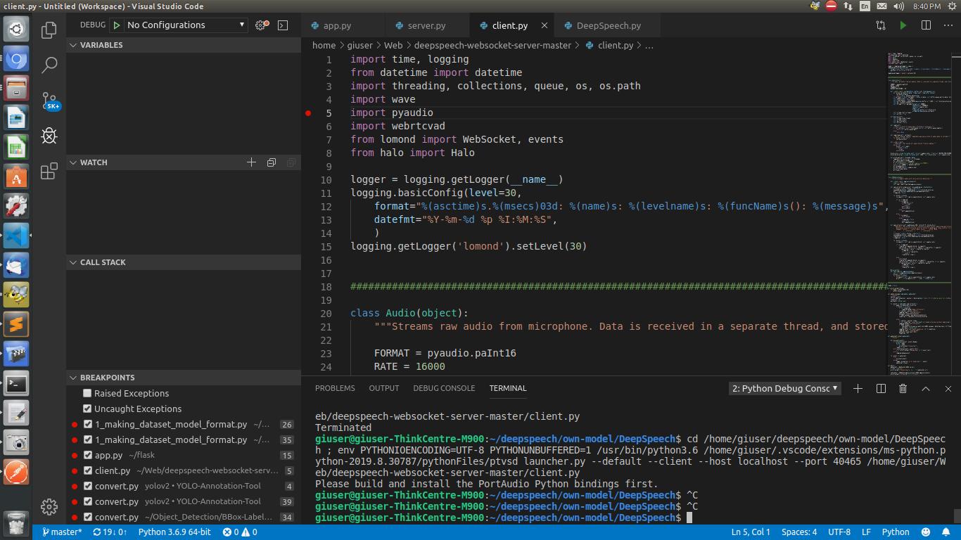 How to Install pyaudio ubuntu 16 04 LTS? · GitHub