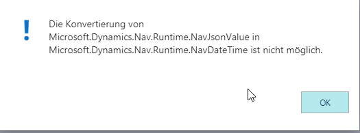 Unable to convert from JsonValue to DateTime filled with Javascript
