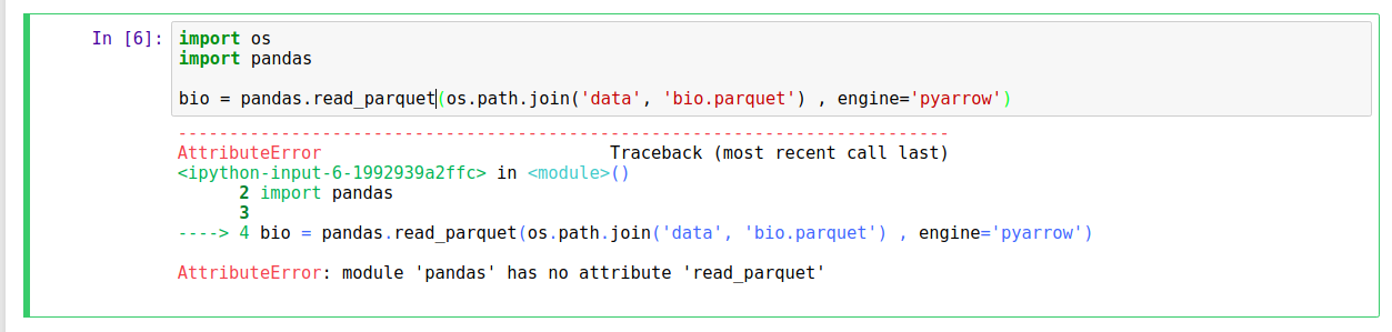 read_parquet not working · Issue #23397 · pandas-dev/pandas