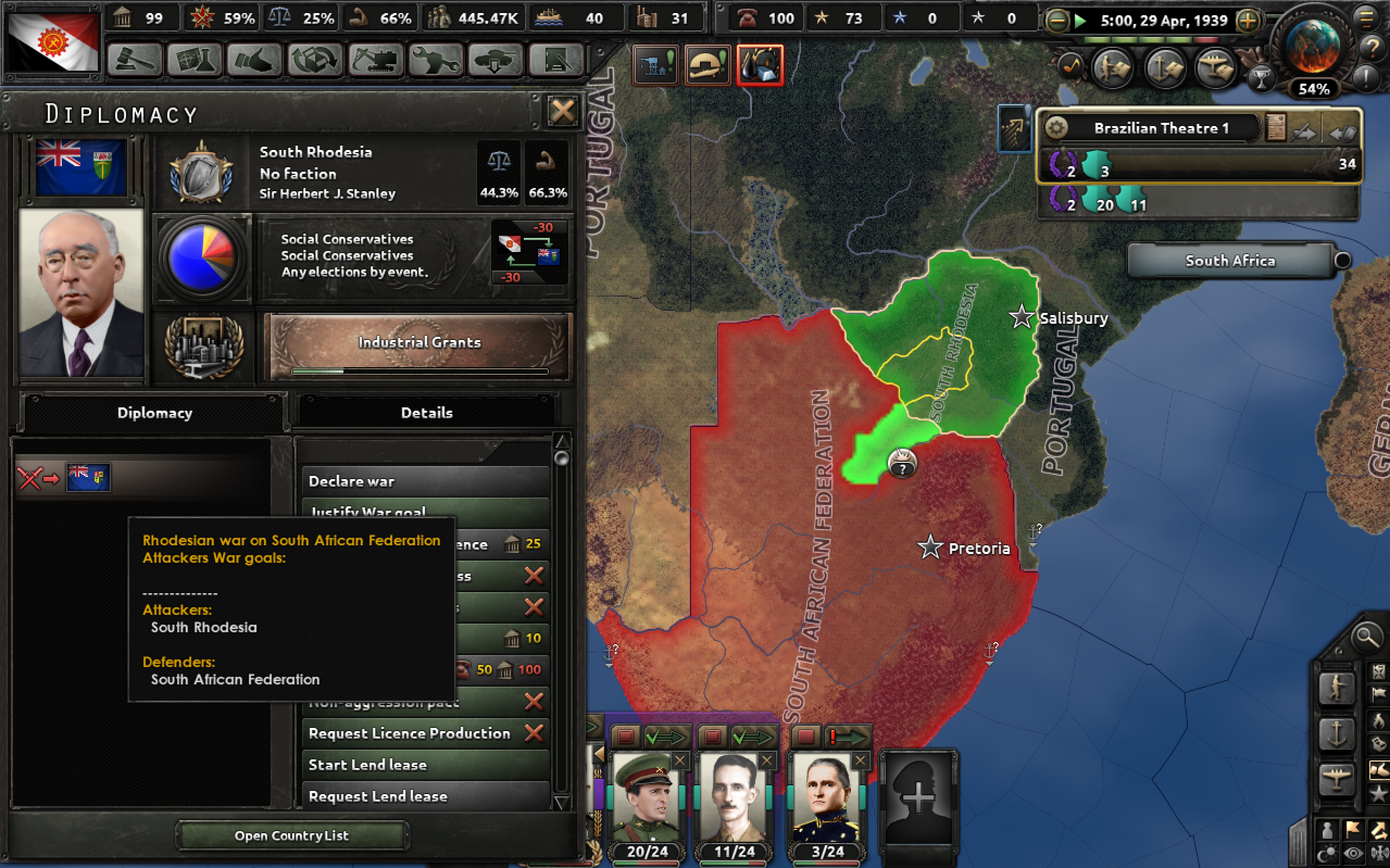 Bug with the South African Civil War · Issue #2617 · KR4