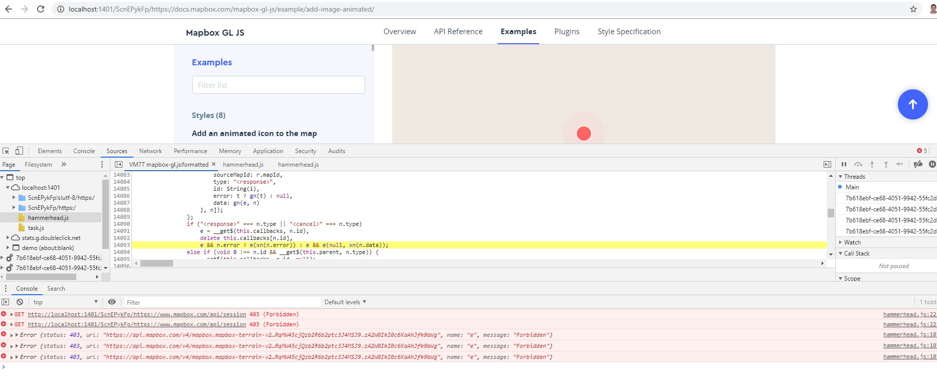 Tetcases are failing due to creating mapbox Icons · Issue #2044