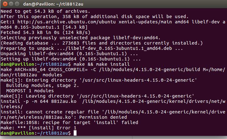 Compilation error on kernel 4 15 0-20-generic (Ubuntu 18 04