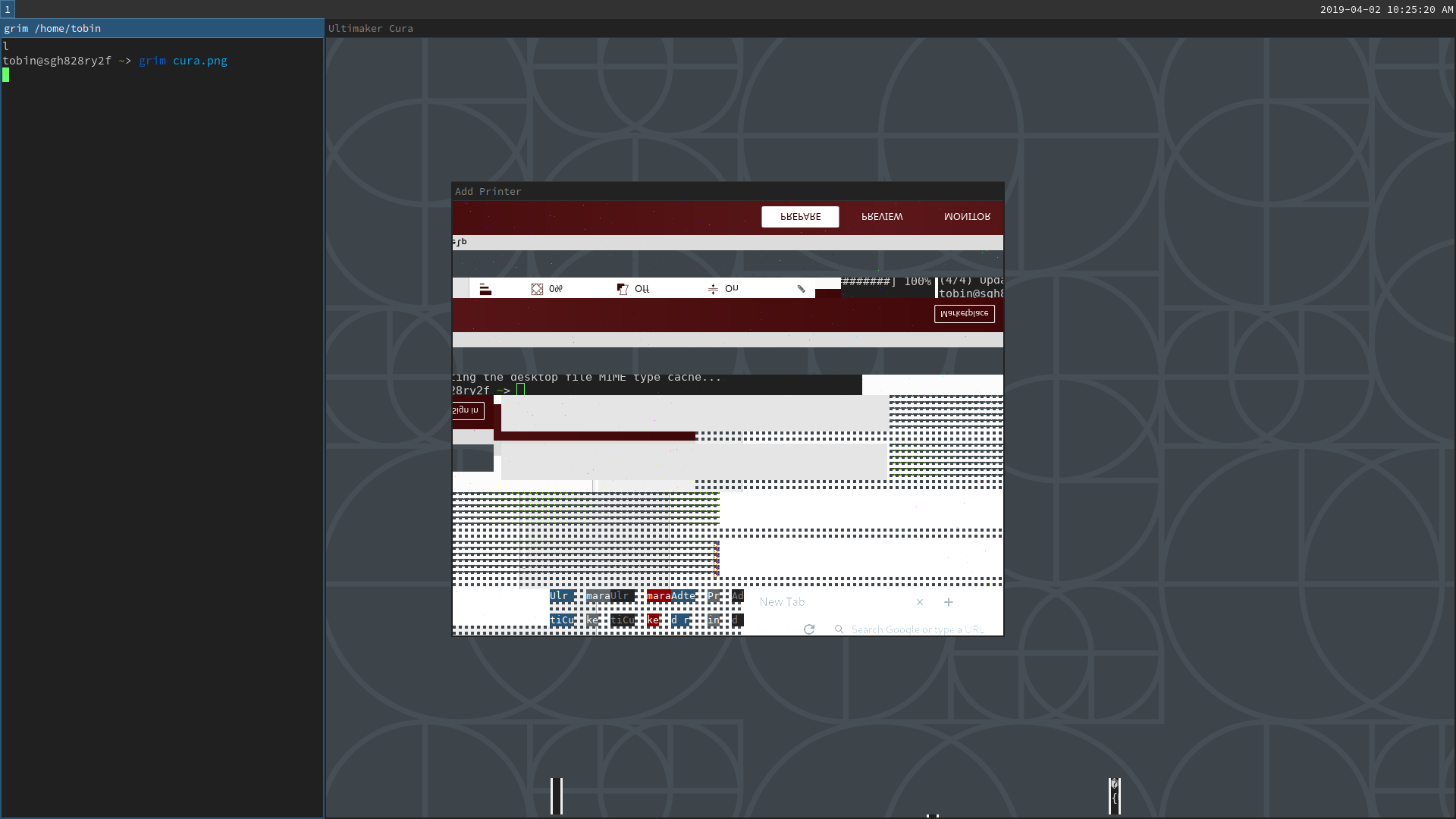 4 0 0] UI not visible (wayland, sway, nouveau) · Issue #5552