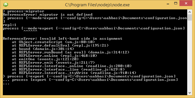 process-migrator_command_running_through_node exe_on_comand_prompt