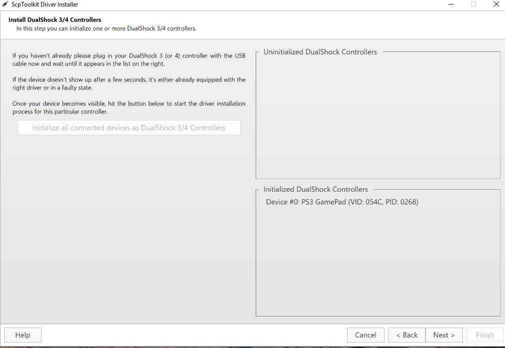 Windows 10 won't detect DS3 Controller (Device Descriptor