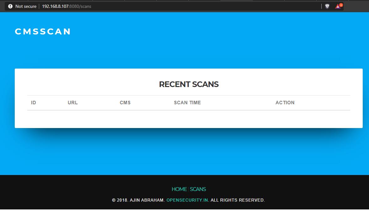 Cms Scanner Scan Wordpress Drupal Joomla Vbulletin