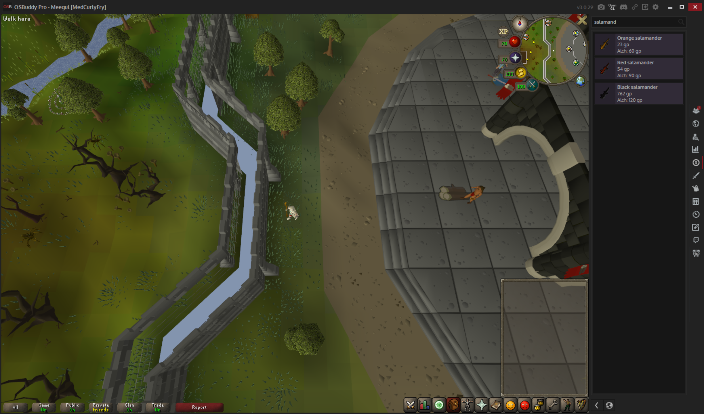 The roof of the wall surrounding the GE does not render