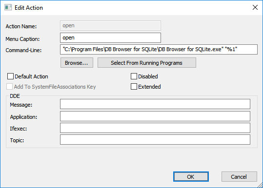 Double-clicking a database in Visual Studio opens DB Browser for