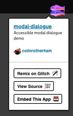 Glitch menu