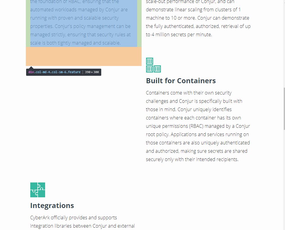 Conjur org Homepage Features (>
