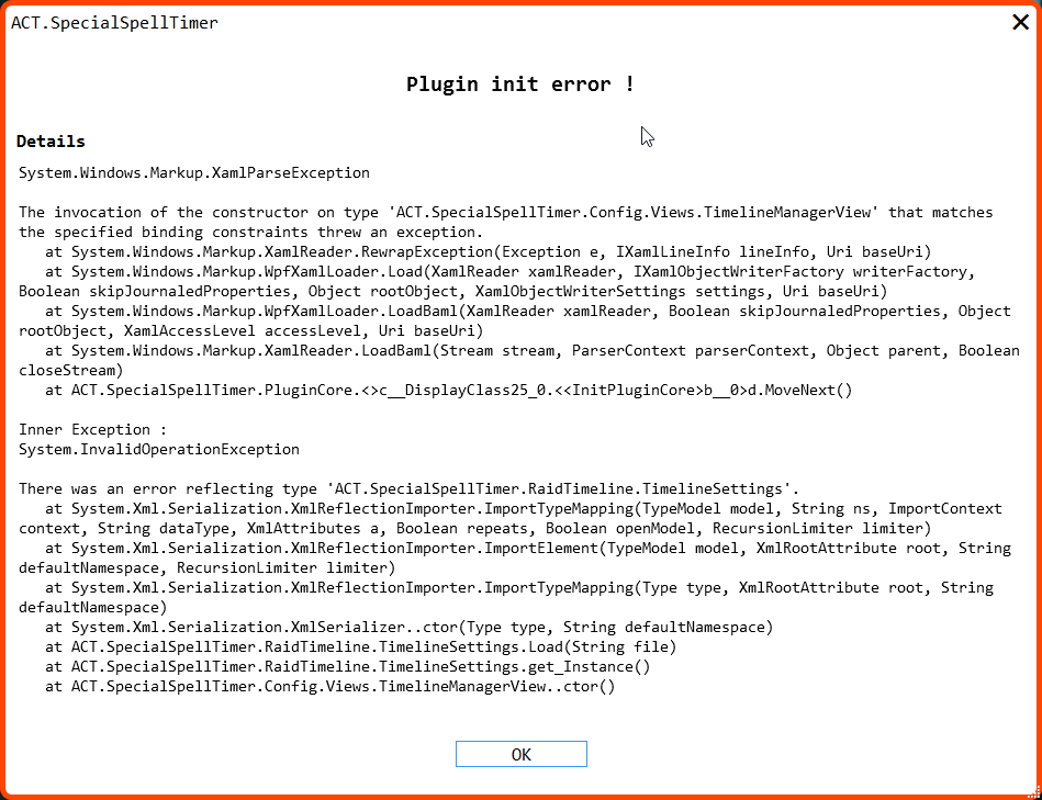 Error while loading with 7 5 1 update · Issue #225 · anoyetta/ACT