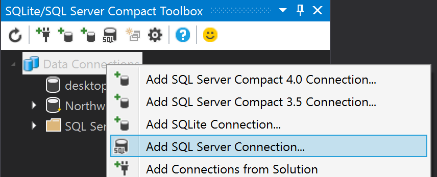 first add a connection from the toolbox to your sql server azure sql database