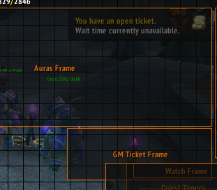 GM Ticket Frame not moving actual ticket frame Y coordinate · Issue