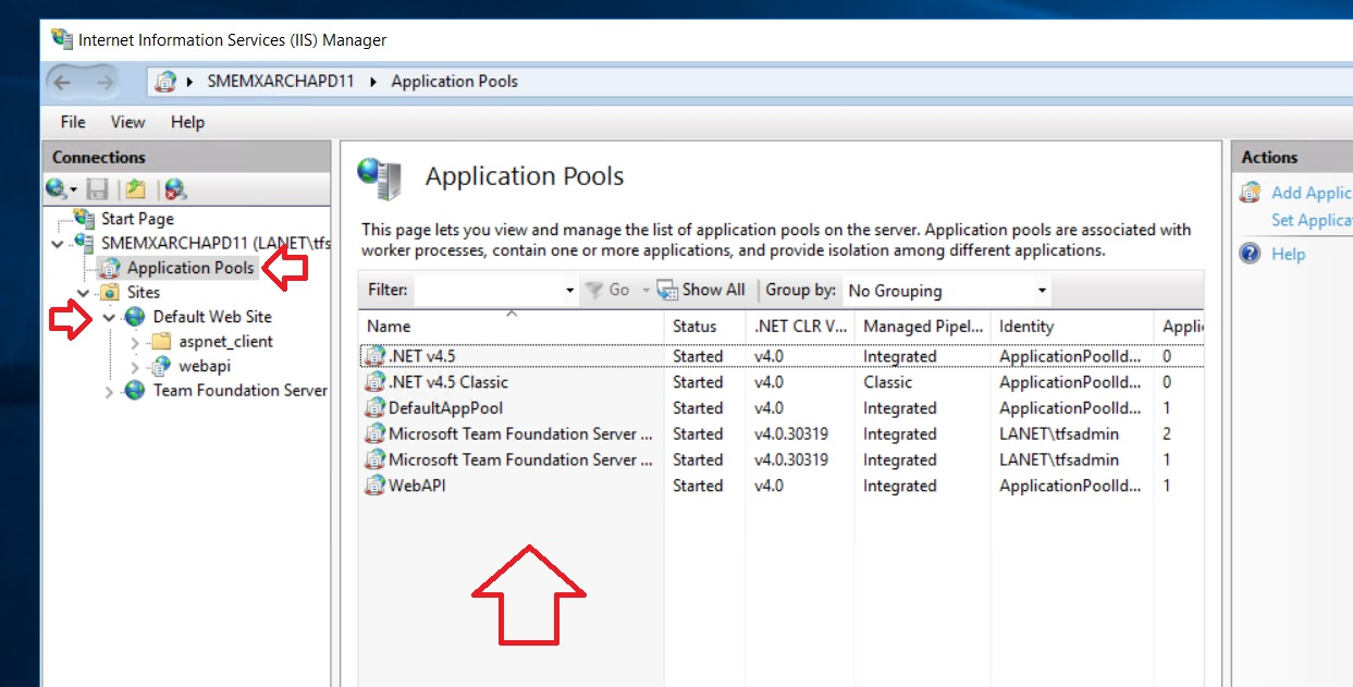 IIS Web App Deploy (Choose Application Pool) · Issue #10873