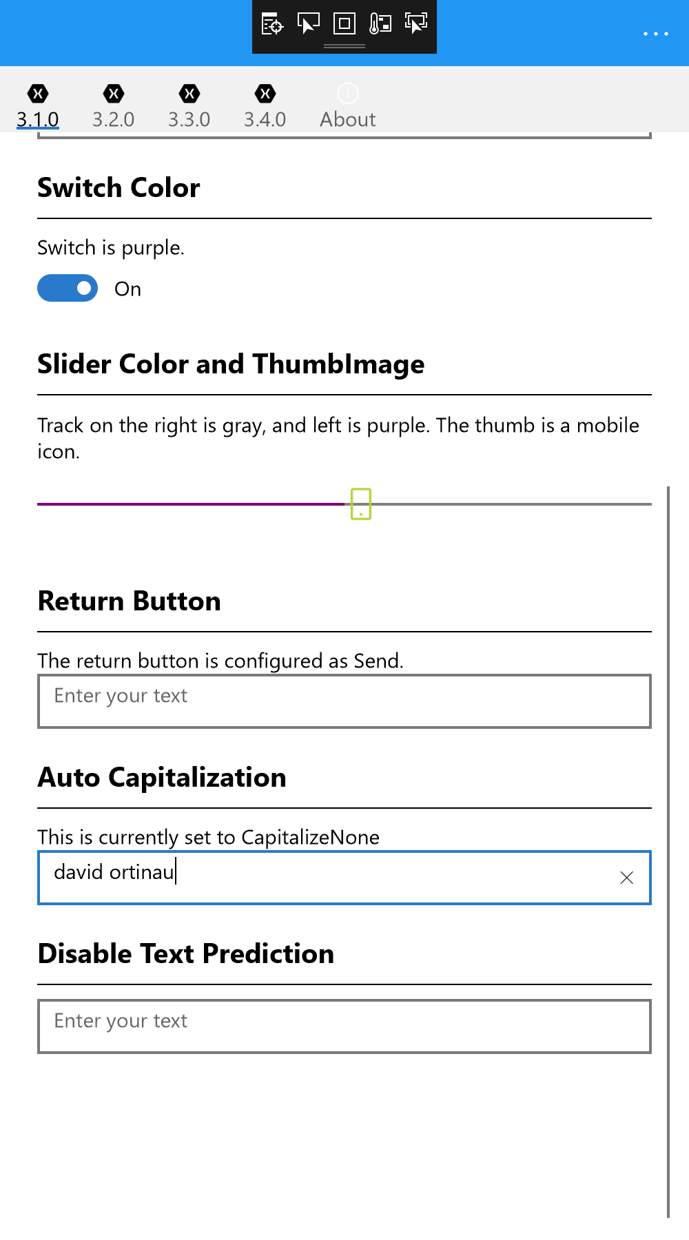 Xamarin Switch Color
