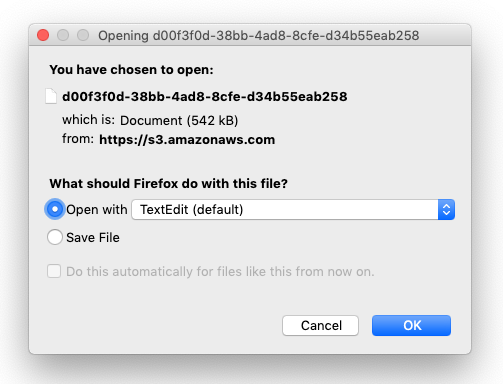 Ensure 'Preview' link saves the manuscript's file extension