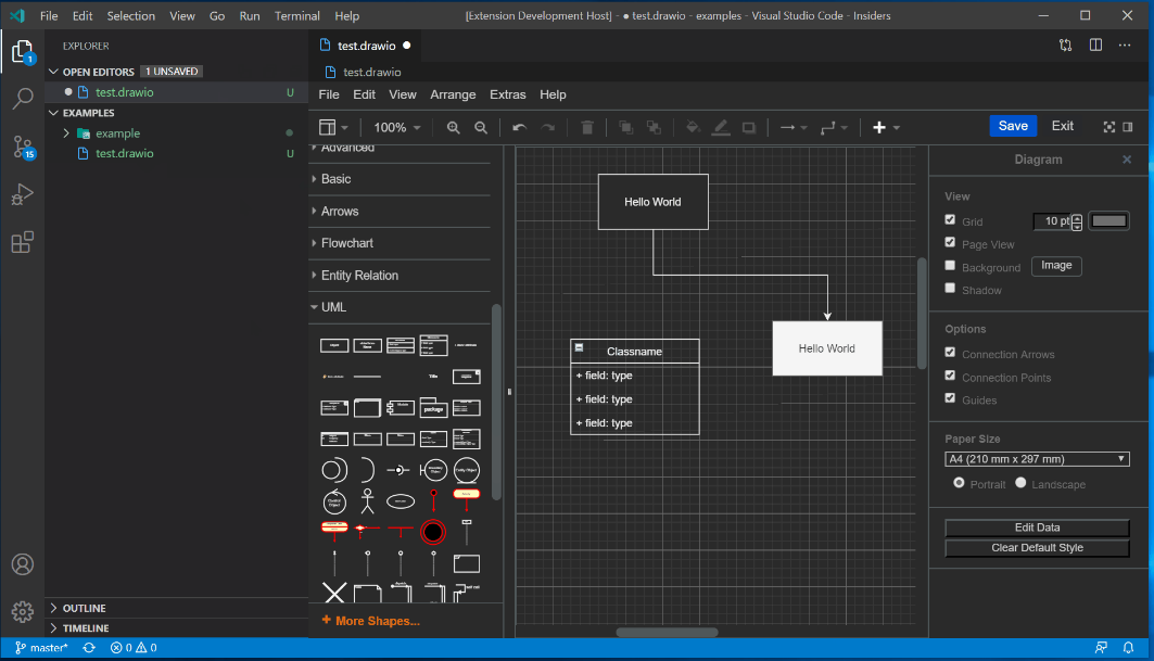 draw.ioをVSCode上で使用/図表をGitで一元管理