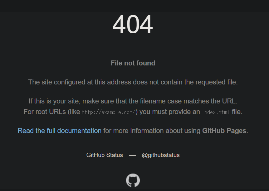 Github pages Not Found