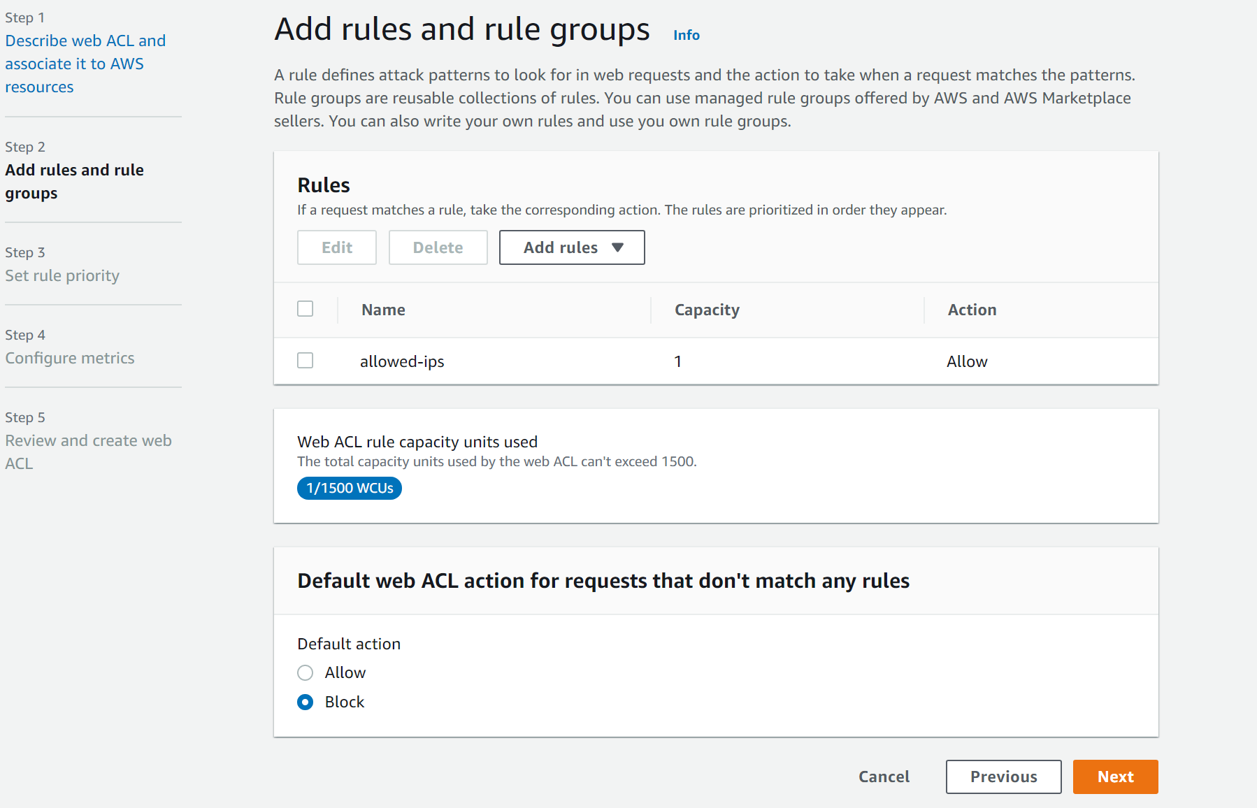Add rules and rule groups