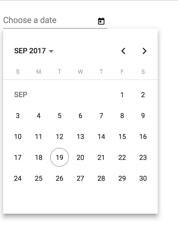 mat input datepicker