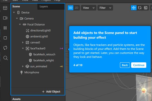 SparkAR/Scene Panel