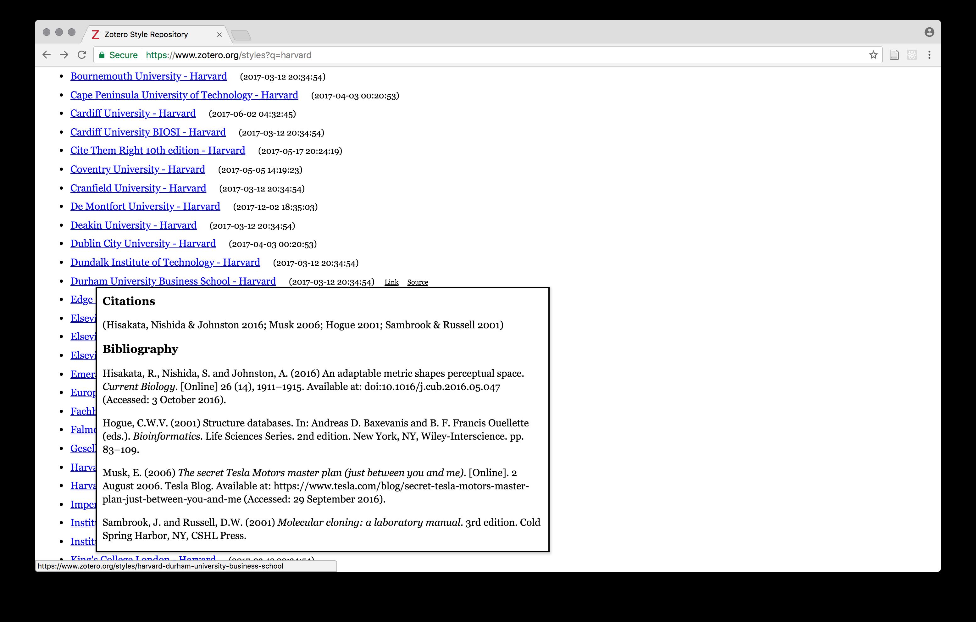 Citation Styles Correct Issue 132 Zotero Bib Web Github