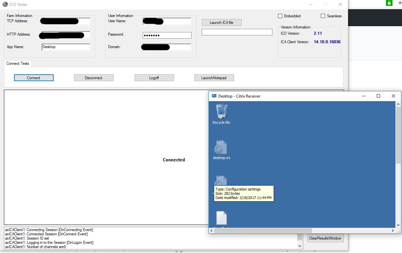 Embedded mode is broken · Issue #1 · citrix/ICOSDK-Sample · GitHub